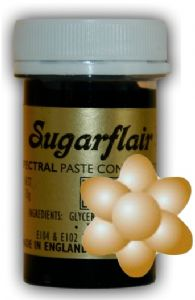 Sugarflair Paste Colours - Pastel Honey Gold